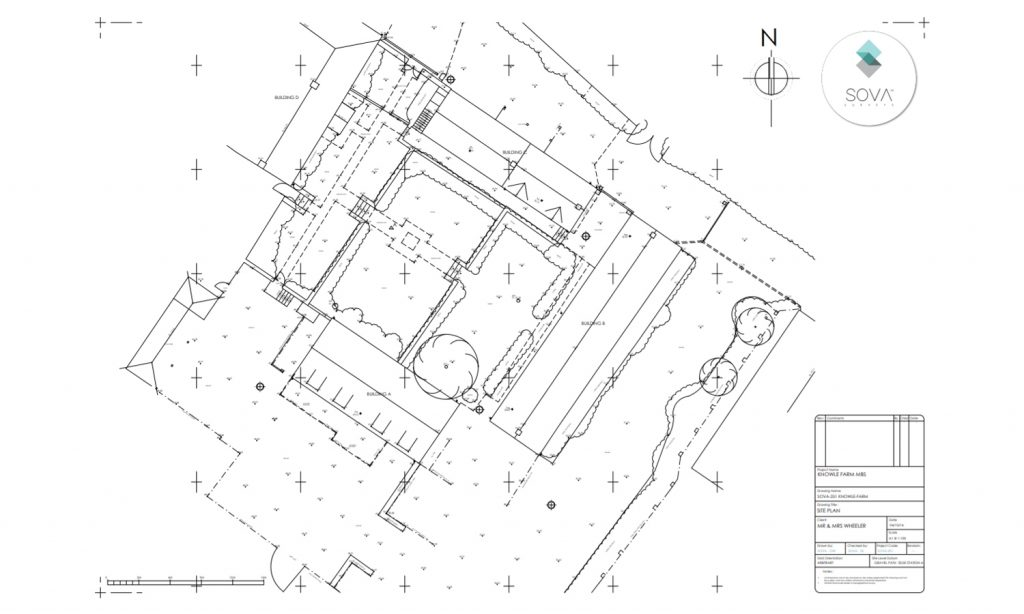 Topographical survey of Knowle Farm.